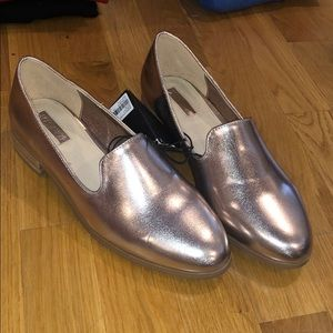 Rose gold shimmery Flats 7.5